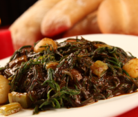 Sabrosa receta de Romeritos con Mole y Camarón