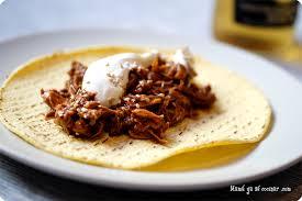 Tacos de Pollo con Mole Poblano